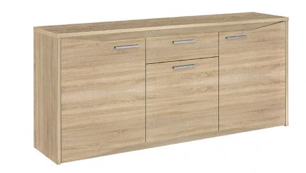Palace Contemporary 3 Door 1 Drawer  Sideboard in White, Sawn Oak or Plum